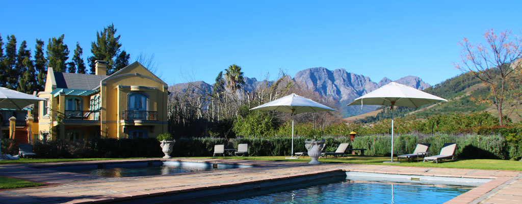 Five star luxury at franschhoek country house and villas for 5 star villas